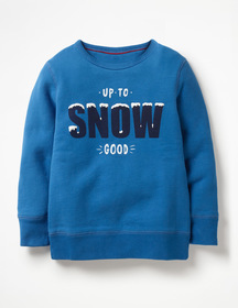 Boden Festive Graphic Sweatshirt