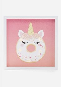 Justice Unicorn Donut Light Up Wall Plaque