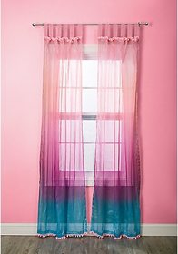 Justice Ombre Pompom Curtains