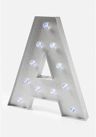 Justice Large initial marquee light