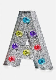 Justice Glitter Rainbow Initial Marquee Light