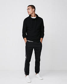 Express textured funnel neck cotton sweater