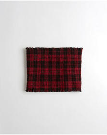 Hollister Smocked Crop Tube Top, RED PLAID
