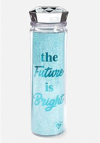 Justice The Future is Bright Sparkle Water Bottle