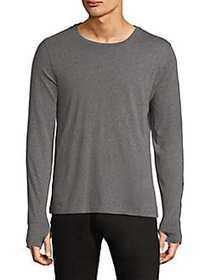 Burberry Marchston Burnout Long-Sleeve Tee GREY