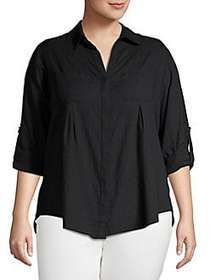 Lord and Taylor Separates Plus Button-Down Blouse