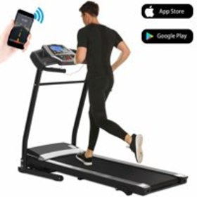 Folding Electric Jogging Treadmill with Smartphone