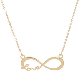 """""""As Is"""" Polished Infinity Station Necklace 14K - J"""