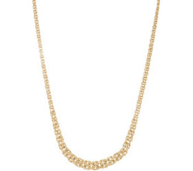 """""""As Is"""" 14K Gold 18"""" Graduated Byzantine Necklace,"""