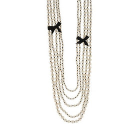 Multi-Strand Simulated Pearl Necklace - J333689