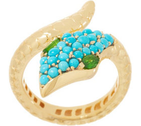 """""""As Is"""" 14K Gold-Plated Sleeping Beauty Turquoise"""