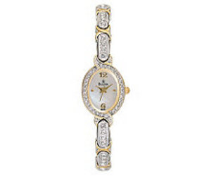 Bulova Women's Crystal-Accented Mother-of-PearlDia