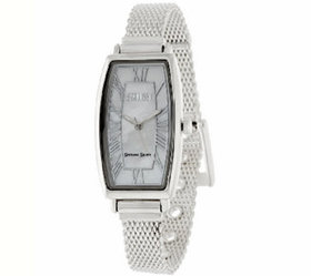 Ecclissi Mother-of-Pearl Dial Sterling Mesh Strap