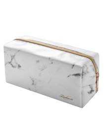 Zodaca Zodaca Marble Patterned Cosmetic Makeup Toi