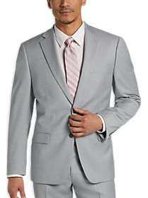 Calvin Klein Light Gray Sharkskin Modern Fit Suit
