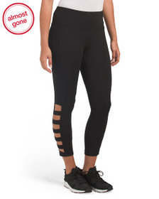 RBX High Waist Capris With Cut Outs