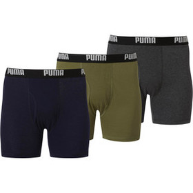 Puma Men's Cotton Boxer Briefs [3 Pack]