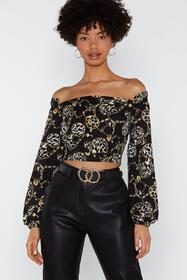 Nasty Gal Chain Supreme Off-the-Shoulder Top