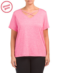 VOGO Plus Active Top With Strappy Detail