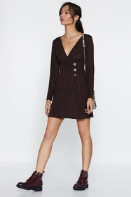Nasty Gal Love Button the Brain Ribbed Dress