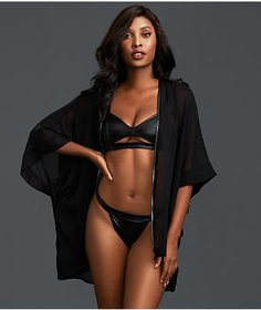 Dreamgirl Faux Leather Robe Set