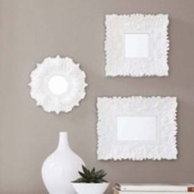 Mainstays White Baroque Florence Wall Mirrors, Set