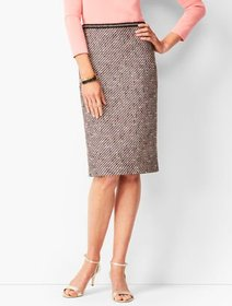 Talbots Ombre Tweed Pencil Skirt