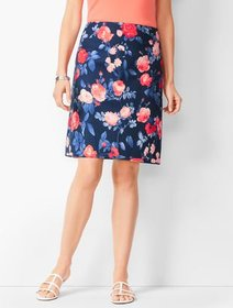 Talbots Floral Canvas A-Line Skirt