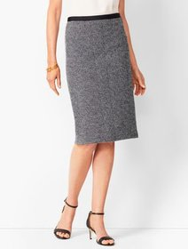 Talbots Grosgrain-Trim Tweed Pencil Skirt