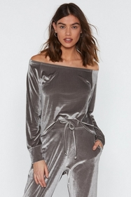 Nasty Gal Gimme Gimme Velour Lounge Top