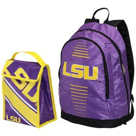 LSU Tigers Youth Backpack & Lunchbox Combo