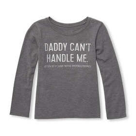 Baby And Toddler Girls Long Sleeve Glitter 'Daddy