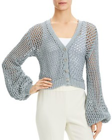 Theory - Crochet Cropped Cardigan