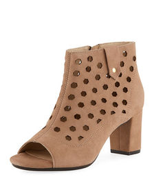 Bettye Muller Concept Finn Perforated Suede Peep-T