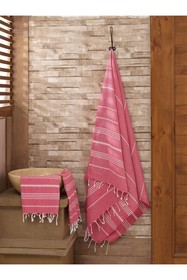 WALLITY Sultan 2-Piece Towel Set - Maroon