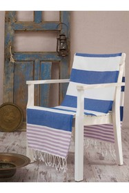 WALLITY Antalya Fouta Beach Towel - Blue