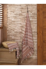 WALLITY Sultan 2-Piece Towel Set - Brown