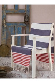 WALLITY Antalya Fouta Beach Towel - Dark Blue