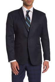 Kenneth Cole Reaction Blue Woven Two Button Notch