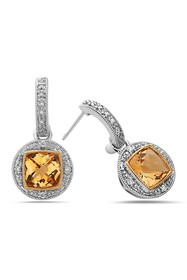 TARA Pearls Two-Tone Diamond & Citrine Earrings
