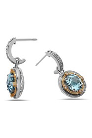TARA Pearls Two-Tone Blue Topaz & Diamond Earrings