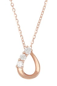 TARA Pearls 14K Rose Gold Diamond Pendant Necklace