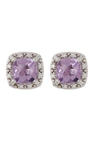 TARA Pearls 14K White Gold Amethyst & Diamond Earr