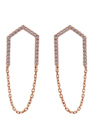 TARA Pearls 14K Rose Gold Diamond Earrings - 0.19