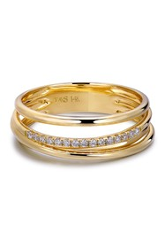 TARA Pearls 14K Yellow Gold Diamond Ring - 0.08ctw