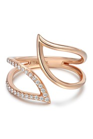 TARA Pearls 14K Rose Gold Diamond Ring - 0.15 ctw