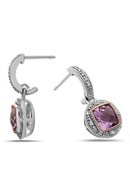 TARA Pearls Two-Tone Amethyst & Diamond Earrings