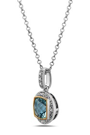 TARA Pearls Two-Tone Blue Topaz & Diamond Pendant