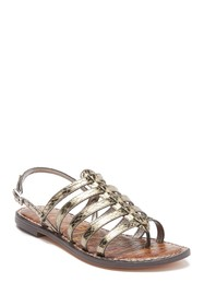 Sam Edelman Garland Snake Embossed Leather Sandal