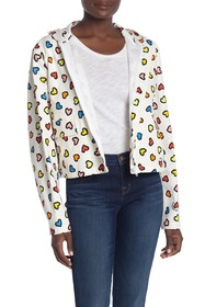 LOVE Moschino Giubbino Allover Cuori Jacket